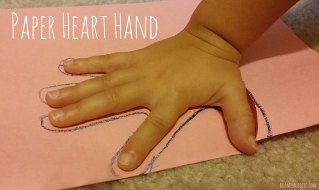 Paper Heart Hands