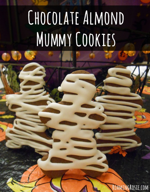 Chocolate Almond Mummy Cookies