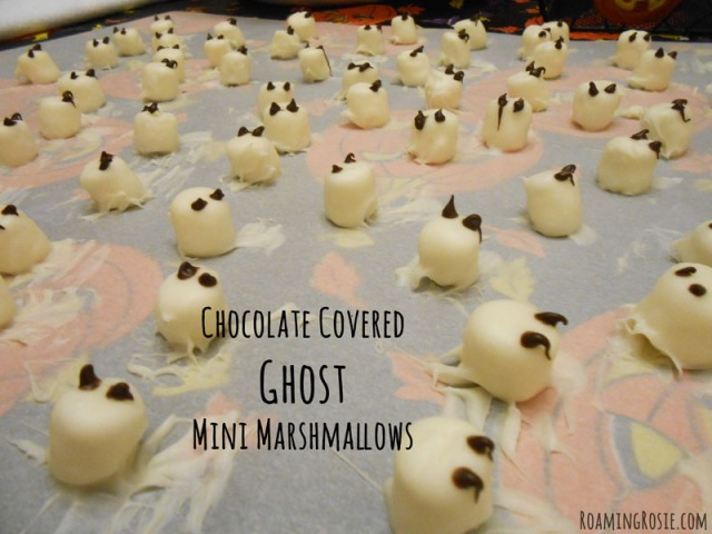 Chocolate Covered Halloween Ghost Mini Marshmallows