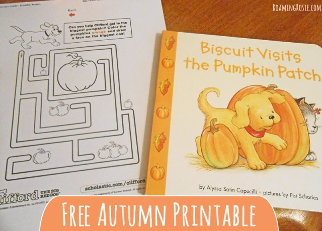 Free Autumn Clifford Printable Maze