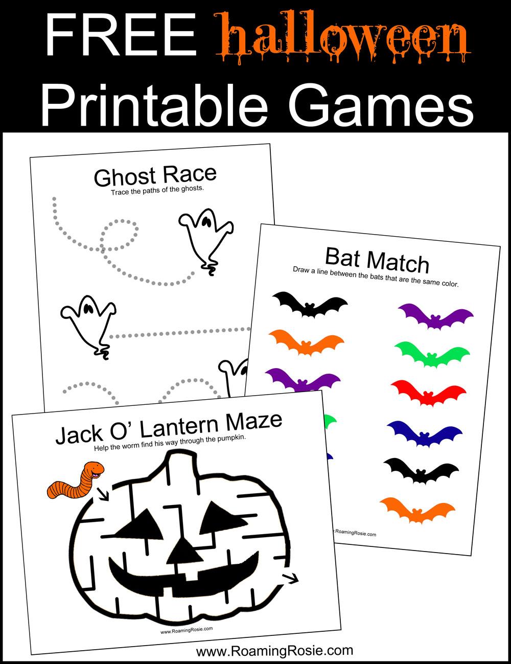 photo regarding Halloween Printable Activities identified as Totally free Halloween Printable Video games Roaming Rosie