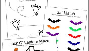 free halloween printable games - Free Preschool Halloween Printables
