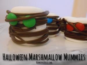 Halloween Marshmallow Mummies