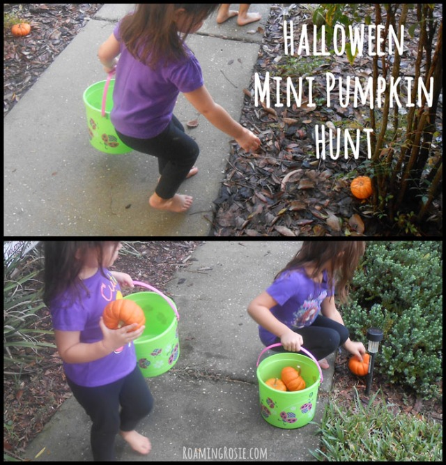 Halloween Mini Pumpkin Easter Egg Hunt