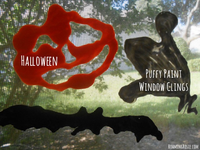 Halloween Puffy Paint Window Clings