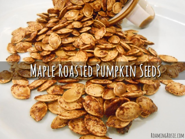 These Maple Roasted Pumpkin Seeds {made with coconut oil and cinnamon ...
