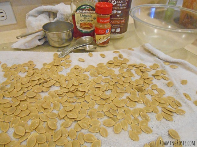 ... with candied pumpkin seeds maple roast pumpkin seeds recipes dishmaps