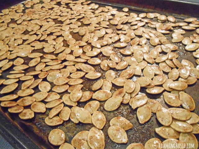 Maple Roasted Pumpkin Seeds