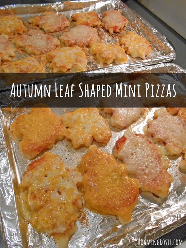 Autumn Leaf Shaped Pizzas
