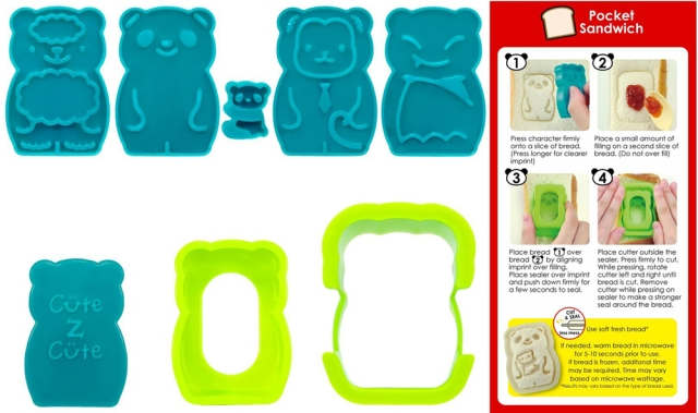 CuteZCute Animal Palz Mini Bento Sandwich Stamping Cutters