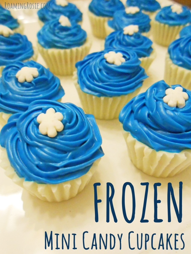 FROZEN Mini Candy Cupcakes