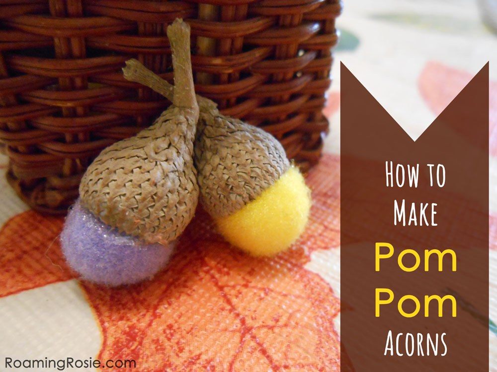 How to Make Pom Pom Acrons 1
