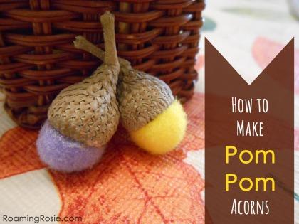 How to Make Pom Pom Acrons 1