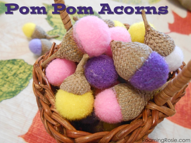 How to Make Pom Pom Acrons