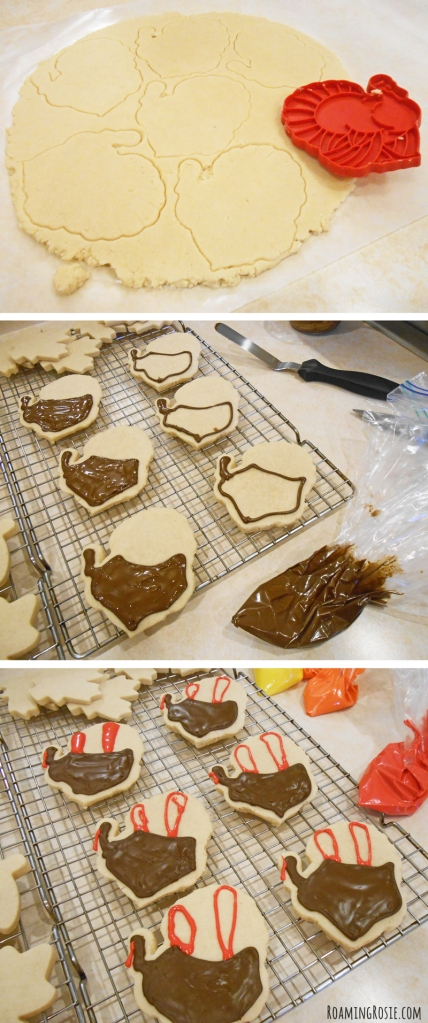 Turkey Iced Cut Out Cookies