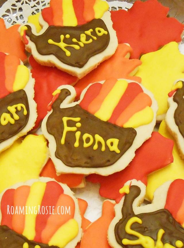 iced turkey cutout sugar cookies  edible thanksgiving