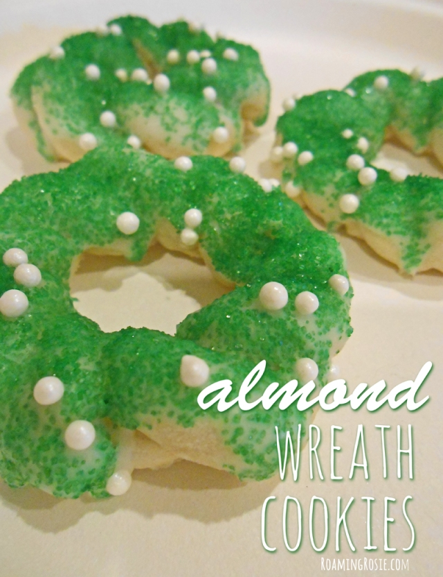 Almond Wreath Cookies