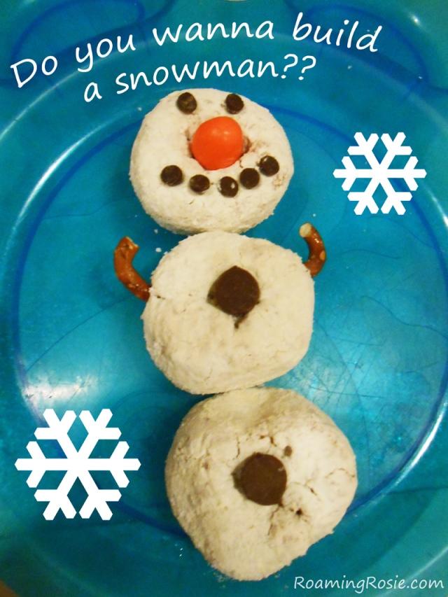 Do You Wanna Build an Olaf Doughnut Snowman?