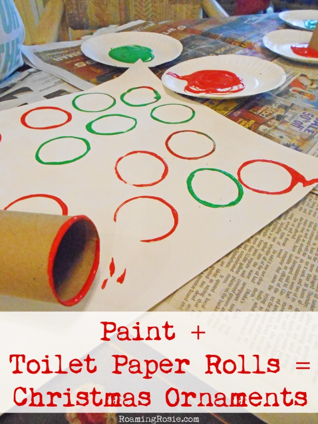 Easy Christmas Craft Toilet Paper Roll Painted Ornaments