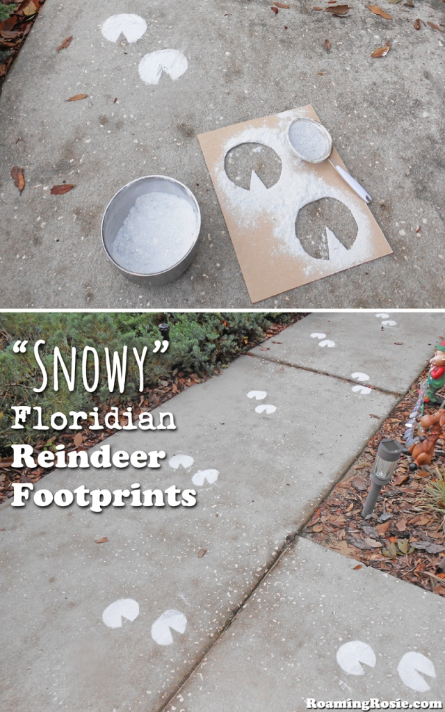 How to Make Snowy Floridian Reindeer Footprints from RoamingRosie.com