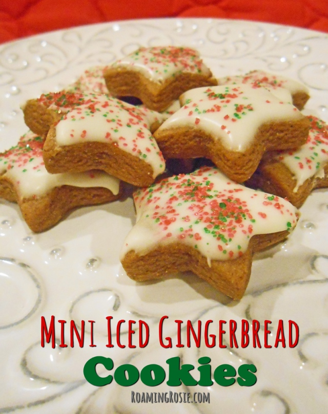 Mini Iced Gingerbread Cookies