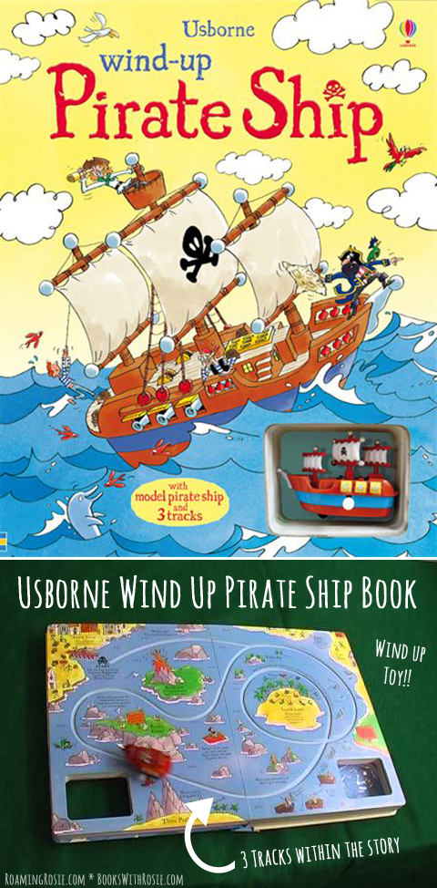 Usborne Wind Up Pirate Ship Book Review by Roaming Rosie