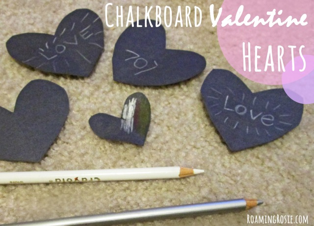 """Chalkboard"" Valentine's Day Hearts Activity for Kids"
