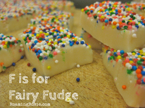 F is for Fairy Fudge {Alphabet Activities at RoamingRosie.com}