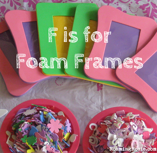F is for Foam Frames