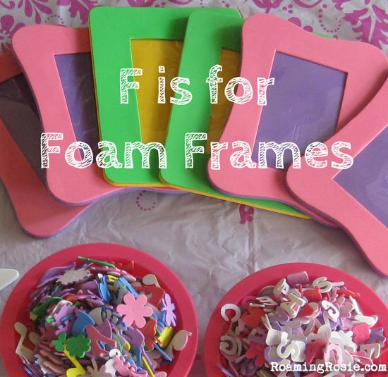F is for Foam Frames