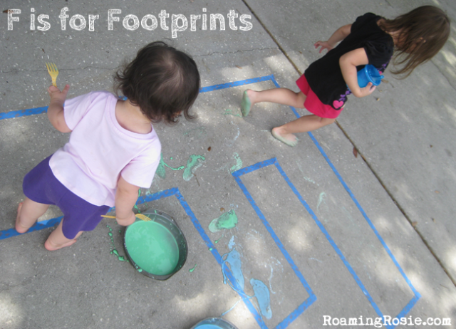 F is for Footprints
