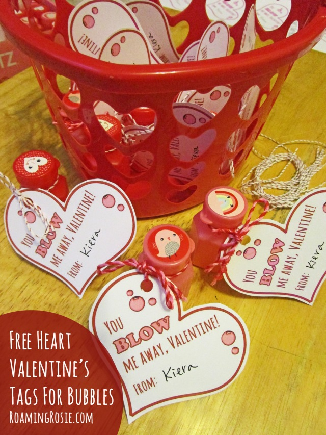 Free Printable Valentine's Day Tags for Bubbles