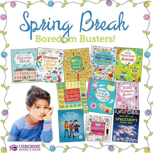 Spring Break Boredom Busters | Activity Books | Roaming Rosie