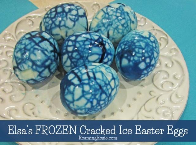 Elsa's FROZEN Cracked Ice Easter Eggs