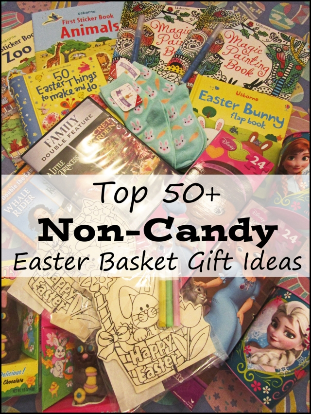 Top 50+ Non-Candy Easter Basket Gift Ideas from RoamingRosie.com