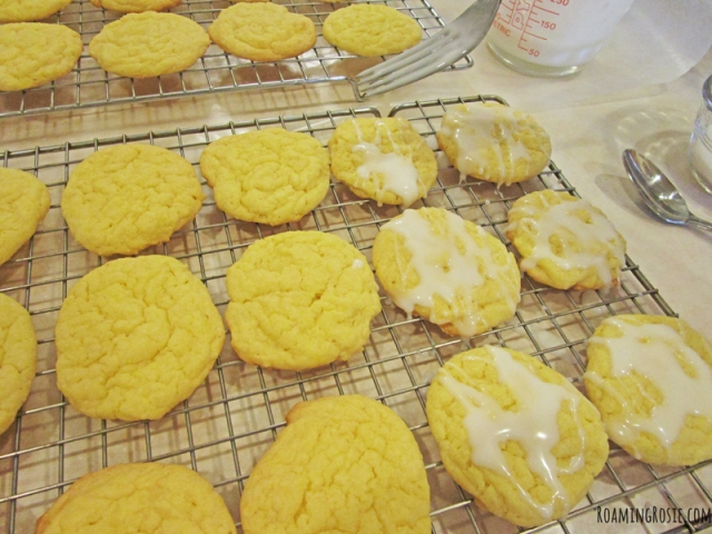 Easy Iced Lemon Cake Mix Cookies