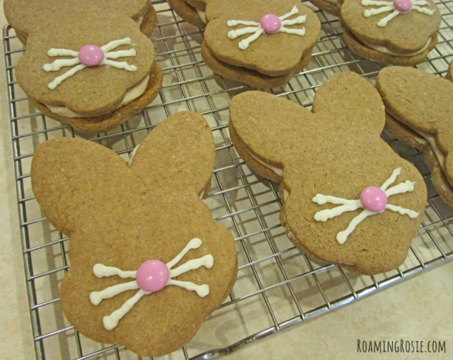 Spiced Easter Bunny Sandwich Cookies