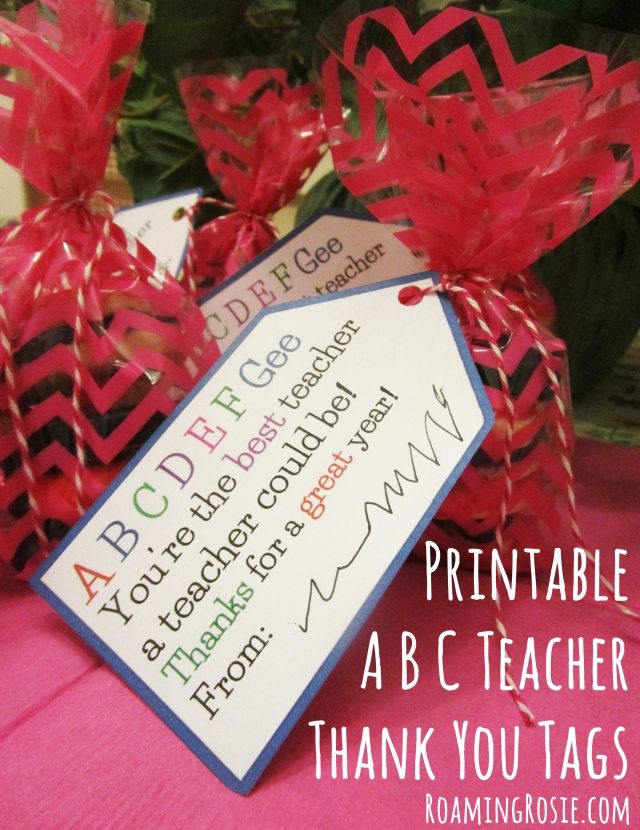 Printable ABC Teacher Thank You Tags