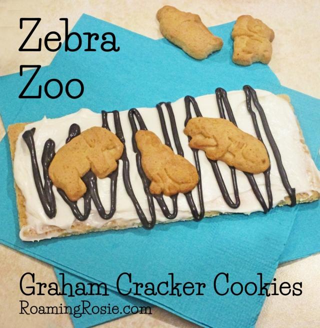 Zebra Zoo Graham Cracker Cookies