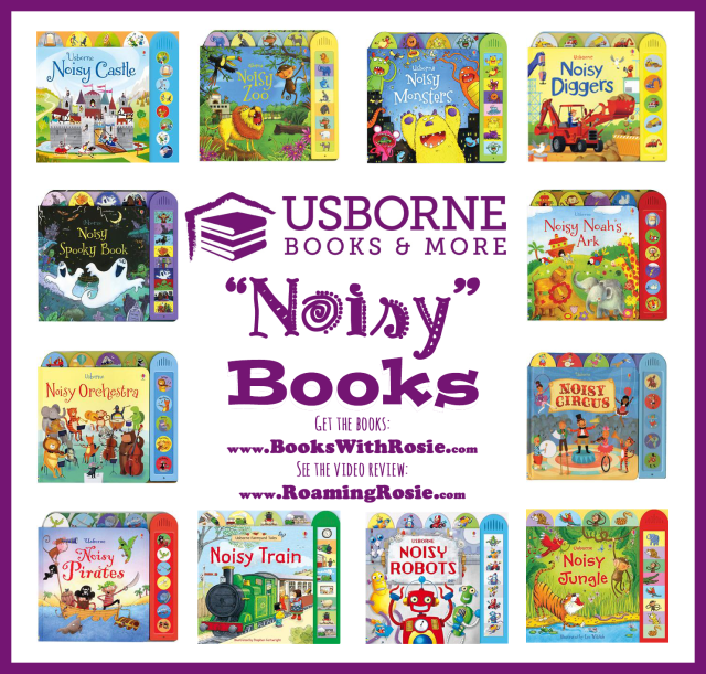 Noisy Books from Usborne Books & More (Review by Roaming Rosie)