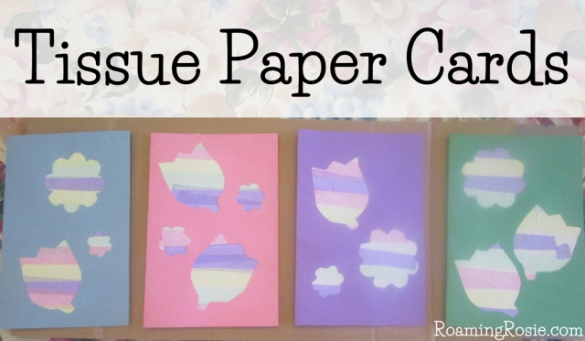 Tissue Paper Flower Cards