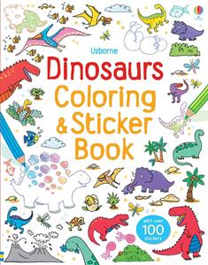 Dinosaur Coloring and Sticker Book