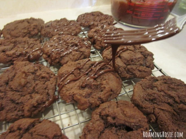 Triple Chocolate Spice Cookies