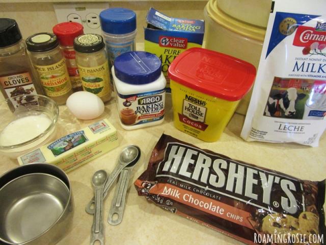 Triple Chocolate Spice Cookies