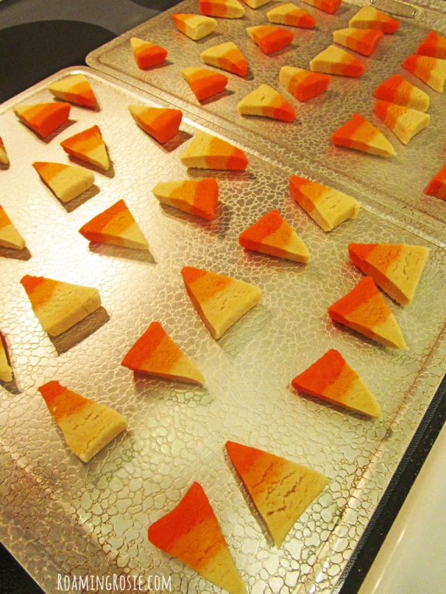 Candy Corn Shaped Honey Cookies