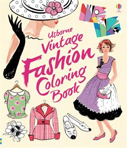Usborne Vintage Fashion Coloring Book