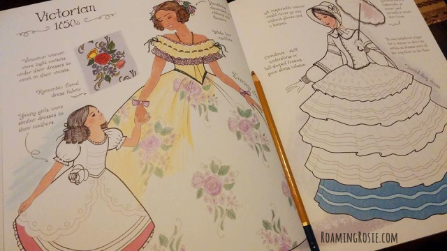 fashion coloring book victorian 1850