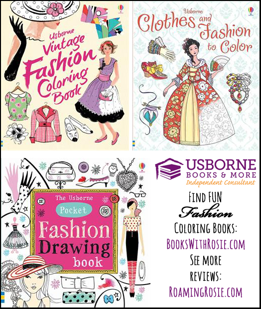 Usborne Fashion Coloring Books