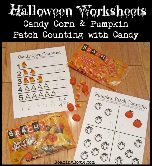 Candy Corn and Pumpkins Free Printable Halloween Worksheets 1