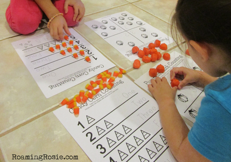 Candy Corn and Pumpkins Free Printable Halloween Worksheets 3